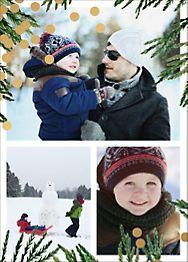Confetti Branches Foil Multi-Photo Card