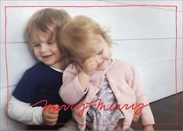 Cursive Holidays Horizontal Photo Card