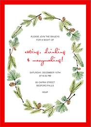 Delicate Firs Invitation