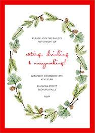 Delicate Firs Invitation