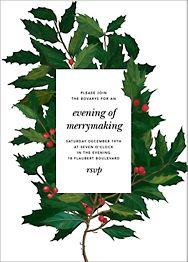 English Holly Invitation