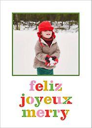 Feliz Merry Joyeux Photo Card