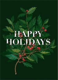 Holly Branch Card