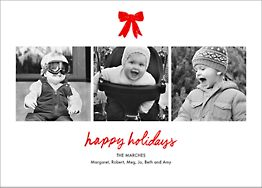 Holiday Triptych Horizontal Photo Card
