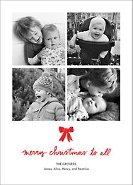 Holiday Triptych Vertical Photo Card
