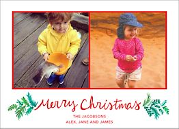 Merry Christmas Sprigs Photo Card