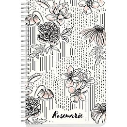 Black and White Floral Custom Journal