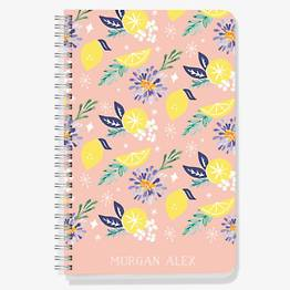 Citrus Floral Custom Journal