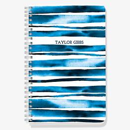 Indigo Stripe Custom Journal