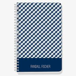 Navy Gingham Custom Journal
