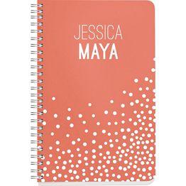 White Confetti Custom Journal