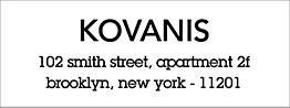 Cantarell Bold Return Address Label - Kovanis