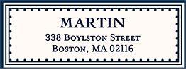Architectural Frame Return Address Label