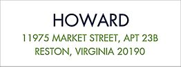 Modern White Return Address Label - Howard