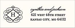 Flourish Monogram Return Address Label