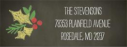 Magic Chalkboard Holiday Return Address Label