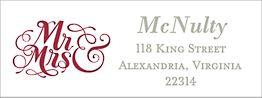 Mr. & Mrs. White Return Address Label