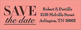 Elegant Save the Date Return Address Label