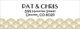 Glitter Gold Scallops Return Address Label