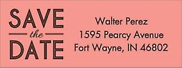 Inline Save the Date Return Address Label