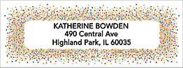 Colorful Confetti Return Address Label