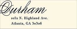 Calligraphy Return Address Label