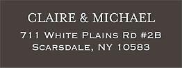 Chandelier Charcoal Return Address Label