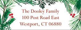 Pine Wreath Return Address Label