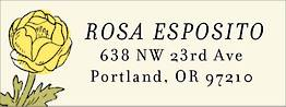 Wildflower Return Address Label