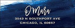 Sapphire Return Address Label