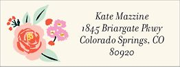 Cottage Rose Return Address Label