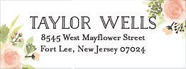 Painted Floral Return Address Label