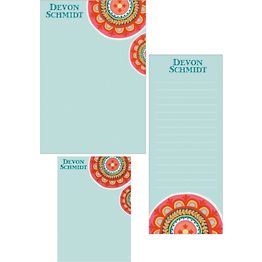 Suzani Mixed Personalized Note Pads