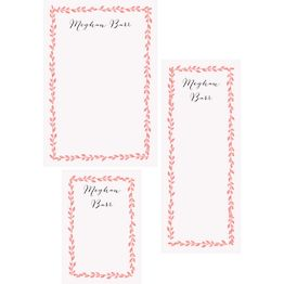 Laurel Border Mixed Personalized Notepads