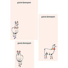 Llama Mixed Personalized Notepads