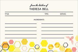 Honeycomb Custom Recipe Card
