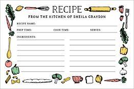 Sketch Custom Recipe Card