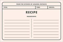 Memo Custom Recipe Card