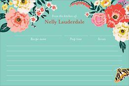 Garden Party Custom Recipe Card