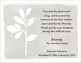 Soft Leaf Sympathy Card