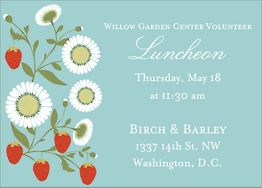 Strawberry Vine Party Invitation