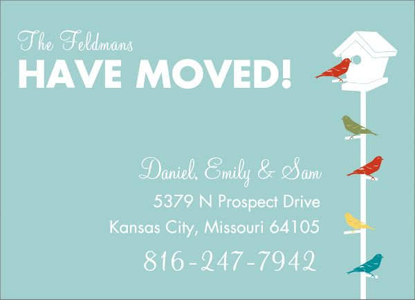 Birdhouse Moving Announcement