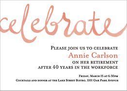 Celebrate Watercolor Party Invitation