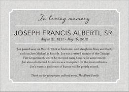 In Loving Memory Memorial Invitation