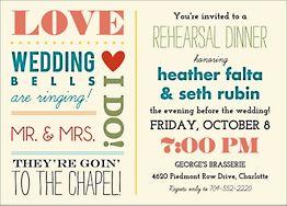 Love Notes Rehearsal Dinner Invitation