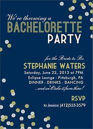 Sequins Bachelorette Party Invitation