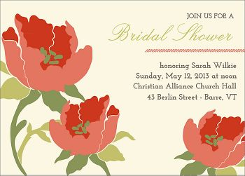 Tulip Bridal Shower Invitation