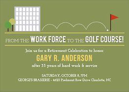 Golf Course Retirement Party Invitation