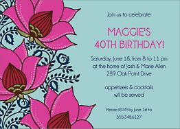 Lotus Flower Party Invitation