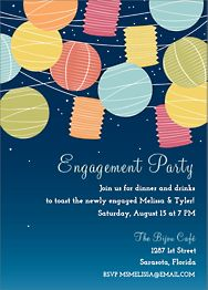 Lanterns Engagement Party Invitation